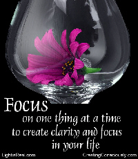 focus and clarity